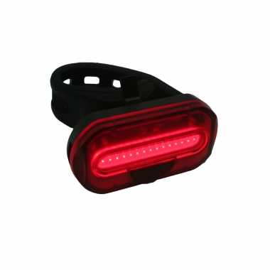 1x fietsachterlicht / achterlamp fietsverlichting cob led met bevestigingsband