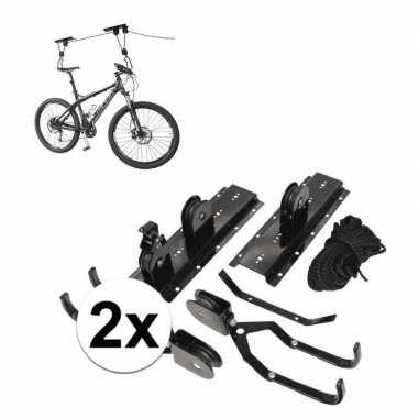 2x fietslift / fiets ophangsysteem tot 4 meter