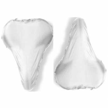 2x witte zadelhoezen waterdicht