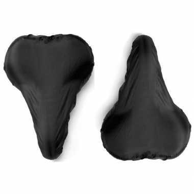 2x zwarte zadelhoezen waterdicht