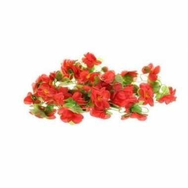 Fiets stuur versiering bloemenslinger rood groen 220 cm