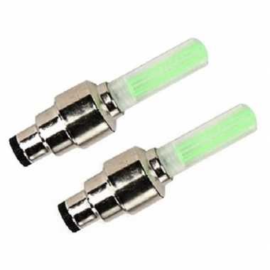 Fietswielverlichting firefly ventiel led lampjes groen 2 stuks
