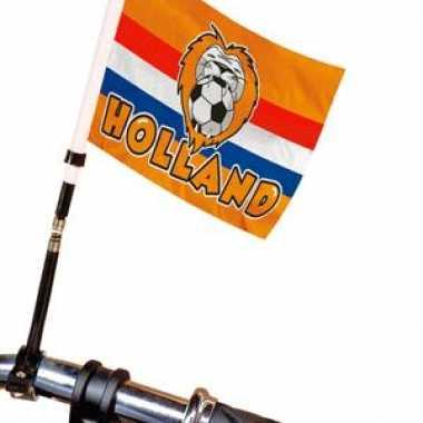Holland fietsvlag oranje met leeuw