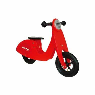 Houten loopscooter rood