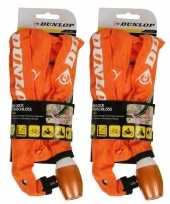 2x fiets kettingslot oranje
