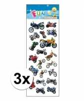 3x stickervel motorfietsen